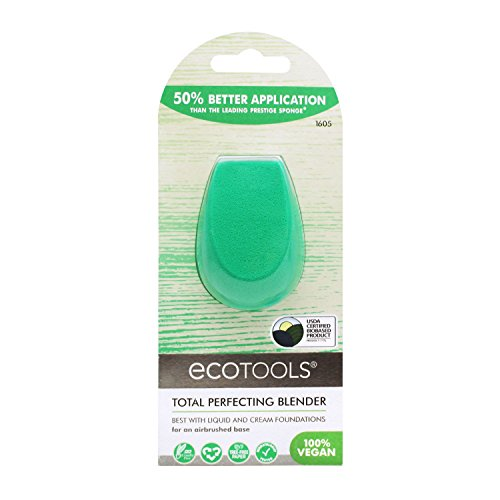 Ecotools Cruelty Free and Eco Friendly Total Perfecting Blender Sponge, Made with Recycled and Sustainable Materials, 1 Count ()