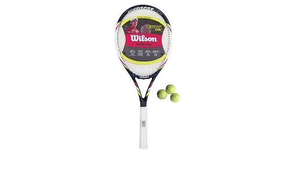 WILSON Envy OS Hybrid Raqueta De Tenis L4 + 3 Pelotas PVP 100 Libras: Amazon.es: Deportes y aire libre