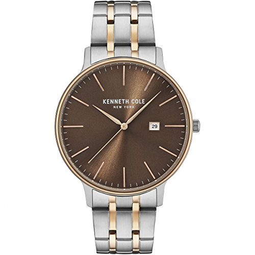 Amazon.com: Kenneth Cole New York Mens Classic Quartz Stainless Steel Dress Watch, Color:Two Tone (Model: KC15095001): Kenneth Cole: Watches