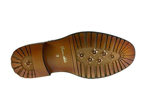 Nieuwe Heren 139005a Cap Teen Patent Oxford Dress Schoenen Donkerbruin