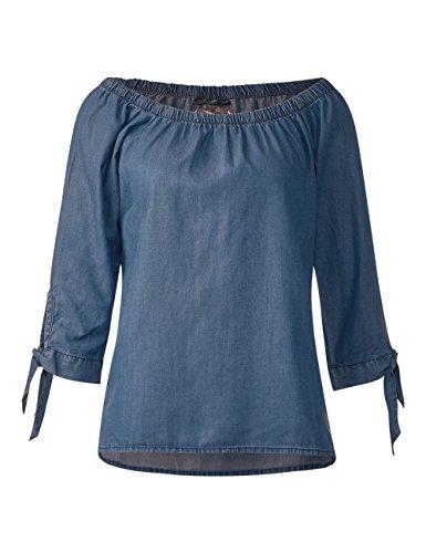 11405 Blue Blusa Mujer Azul Tencel Wash mid Para Street One cAwUZqYUz