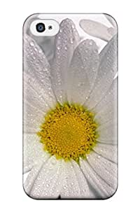Iphone 4/4s Well-designed Hard Case Cover Delicate Daisies Protector