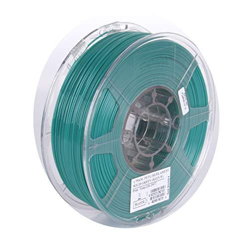 eSUN 3D 1.75mm Solid Green PETG 3D Printer Filament 1KG Spool (2.2lbs), 1.75mm Solid Opaque Green