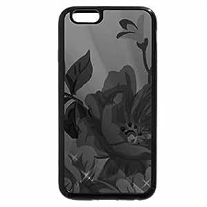 iPhone 6S Case, iPhone 6 Case (Black & White) - Purple Blue Poppy