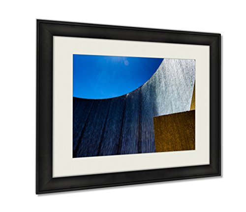 Ashley Framed Prints, Houston Galleria Waterfall Fountain By The Galleria Mall, Wall Art Decor Giclee Photo Print In Black Wood Frame, Ready to hang, 20x25 Art, - Galleria Houston Malls