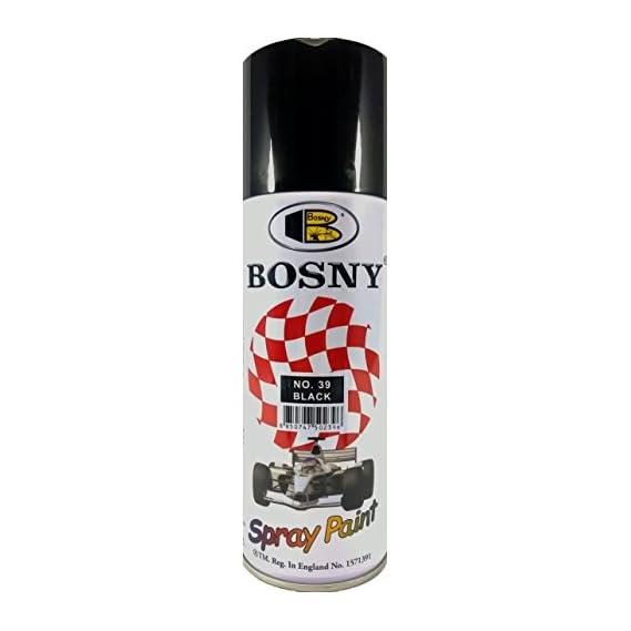 Bosny Acrylic Aerosol Spray Paint (400 ml, Black)