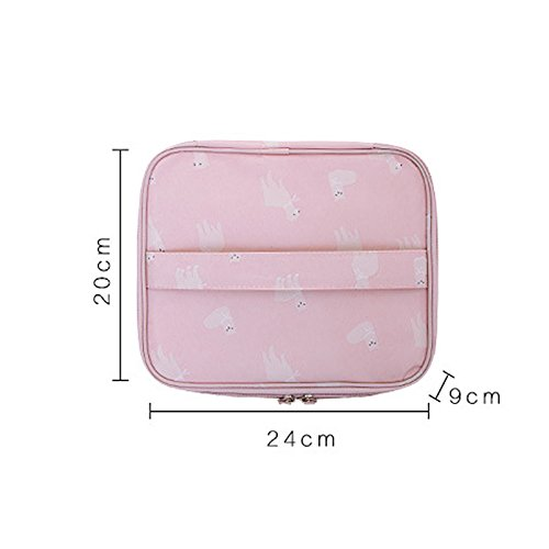 Bag Toiletry Pouch Makeup Organizer Bag Handbags Travel Trip Clutch Up For Make Carry black Women Zipper Cosmetic On Companion H5wqWE