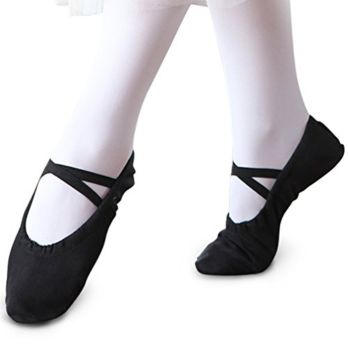 Ballet STELLE Little Shoe Slipper Yoga Toddler Big Shoe Women Boy Dance Ballet Canvas Girls Kid Kid Black nqIgqfR