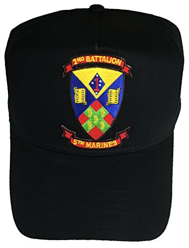 2ND BATTALION 5TH MARINES CREST HAT - BLACK - Veteran Owned Business 2nd Battalion 5th Marines