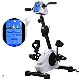 Rehab Bike Pedal Exerciser Electronic Physical Therapy Arm/Leg Health Exerciser with 7' Display Touchscreen Recovery Cycle for Handicap, Disabled and Stroke Survivor