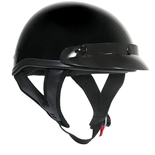 Outlaw T70 DOT Solid Glossy Black Half Helmet - Small - Dot Gloss Outlaw