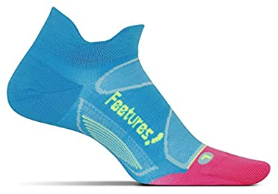 Feetures Unisex Elite Ultra Light Cushion No Show Tab Socks