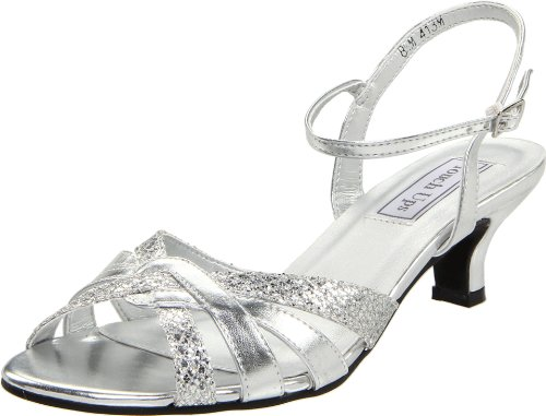 Touch Ups Women's Jane Ankle-Strap Sandal,Silver Glitter,9 M US
