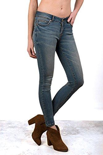 V&L - Pantalon Denim, Mujer, Color Denim, Talla 30