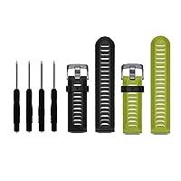 HWHMH Bandas coloridas de silicona de reemplazo con herramientas de eliminación de pines para Garmin Fenix 3 (sin rastreador, solo bandas de reemplazo) (negro y lima)