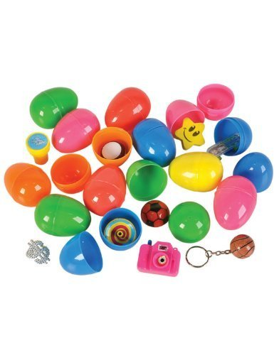 Price comparison product image 24 ~ Toy Filled Easter Eggs ~ Approx. 2.25 Inch ~ New (Assorted Pastel Colors)