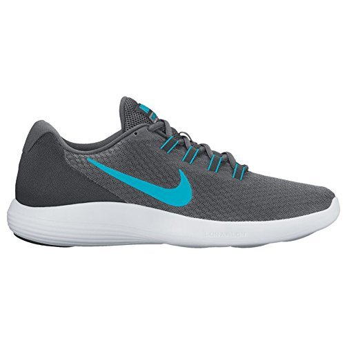 NIKE Men's LunarConverge Running Shoe, Dark Grey/Chlorine Blue/Anthracite/Black, 11.5 D - Ambassador Running