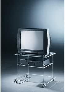 ADS 7090 - Mueble para televisor con Ruedas (plexiglás acrílico), Transparente: Amazon.es: Hogar