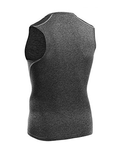 T Débardeur Sans Rapide Gris De shirt Homme Manches Compression Séchage Vest rzx4rHRqO