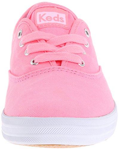 Keds Kvinners Mester Vasket Twill Mote Sneaker Neon Rosa