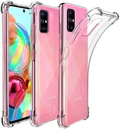 NWNK13 For Samsung Galaxy A71 Phone Case Slim Fit Heavy Duty Front Back Protective Case Built-in Screen Protector Full Body Mobile Phone Cover for Samsung A71 Rose Pink