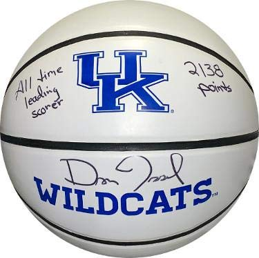 Dan Issel signed Kentucky Wildcats Logo Basketball All Time Leading Scorer 2138 Points- Witnessed Hologram - JSA Certified
