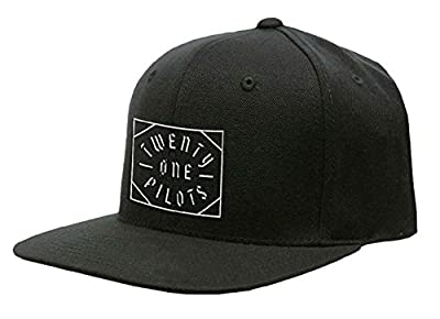 Twenty One Pilots 21 Baseball Cap Goth Square Band Logo Official Black Snapback Size One Size