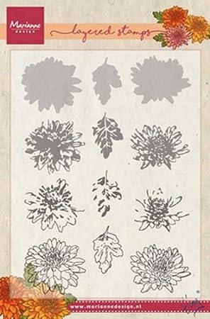 Marianne Design Transparente Stempel Tinys Tulpe Silikon 12.5 x 19 x 0.5 cm