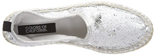 Femme in Double White Whi Espadrilles Colors Weiß california Sequins Sole of 0wAf7q