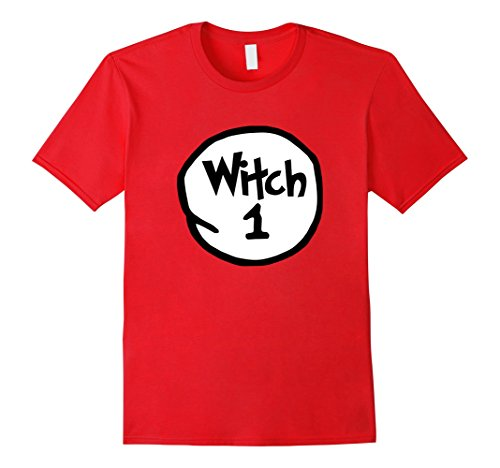 Group Of Witches (Mens Funny Witch 1 Halloween t-shirt for group of witches Large Red)