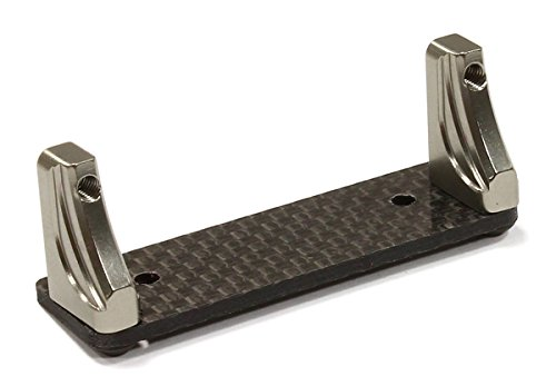 Hpi Servo Mount (Integy RC Hobby C25689GUN Machined Alloy+Carbon Fiber Servo Mount for Axial 1/10 Wraith Rock)