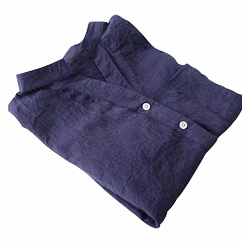 Shirt Coton Zha Hei Bleu Shirt Manches Longues Blouse Lache Femmes Longues en Coton t New Manches Femmes Chemise T 2018 pour Ba Chemise T Unie Chemisier Casual Coton Couleur Bouton 1gfqpxnW