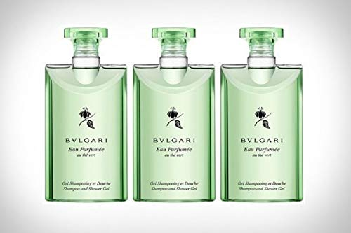 Bvlgari Au The Vert (Green Tea) Shampoo and Shower Gel Set of 3, 2.5 Fluid Ounce ()