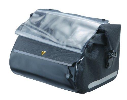 Topeak Handlebar Dry Bag with Fixer (Black, 10.6x9.1x7.5-Inch) by Topeak