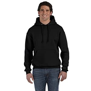 "Fruit Of The Loom Mens Premium 70/30 Hooded Sweatshirt / Hoodie (XL (Chest 44-46"")) (Black)"