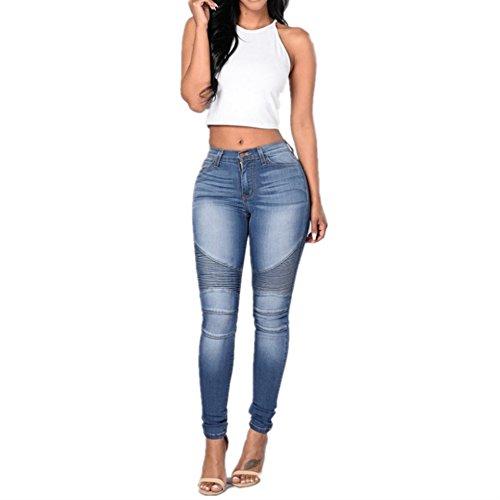 Size Color Couture Jeans Isbxn Pieds Slim Blue Folds Blue Crayon M Stretch Pantalon Femmes PCCqg