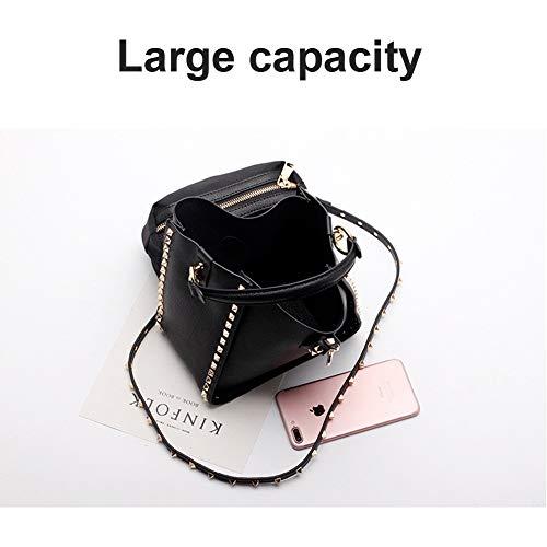 large large Bandoulière Yoome Yoos075 Black Pour Pink S Femme Sac q6141PZTvO