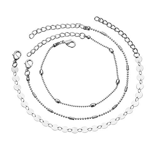 Agust D Vintage Multi Layer Star Moon Anklets for Women 2019 Beads Anklet Bracelet Charm Bohemian Beach Jewelry,4
