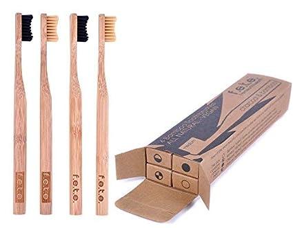 Cepillo de dientes de bambú mejor ecológico biodegradable mangos de bambú y sin BPA nailon cerdas