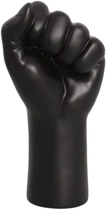 LCDIEB Sculpture Creativity Resin Black Hand Fist Character Sculpture Abstract Decoration Modern Home Room Decoration Accessories Figurines,A