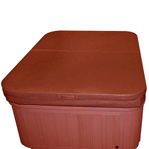Cover Down Tie Spa (84 x 84 Inch Replacement Spa Cover and Hot Tub Cover - Brown)