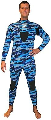 3mm Camouflaged Full Suit w Gun Pad Camo Wetsuit Fullsuit Free Dive Freedive Free Diving Freediving Suit Gear Equipment Wet Suit Authorized Dealer Full Warranty Scuba Dive Diving Diver