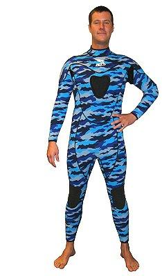 3mm Camouflaged Full Suit w/ Gun Pad Camo Wetsuit Fullsuit Free Dive Freedive Free Diving Freediving Suit Gear Equipment Wet Suit Authorized Dealer Full Warranty Scuba Dive Diving Diver