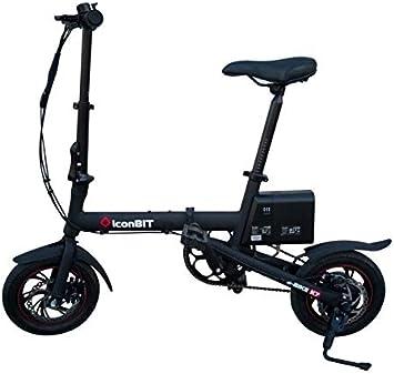 iconBIT E-Bike K7 Negro Aluminio 12