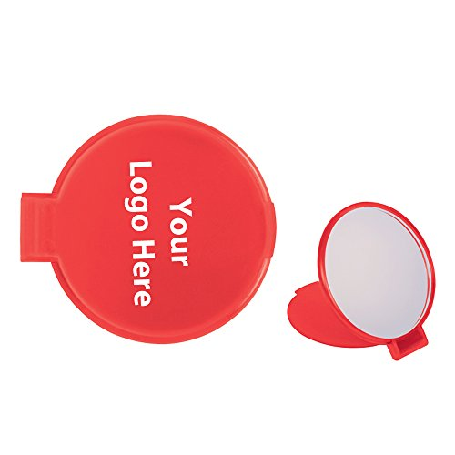 Compact Round Mirror - 250 Quantity - $1.00 Each - PROMOTIONAL PRODUCT / BULK / BRANDED with YOUR LOGO / CUSTOMIZED by Sunrise Identity