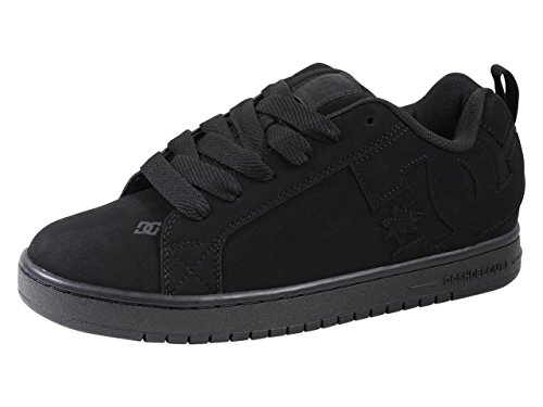 DC Shoes Men's Court Graffik Shoes Black/Black/Black 9.5 by DC