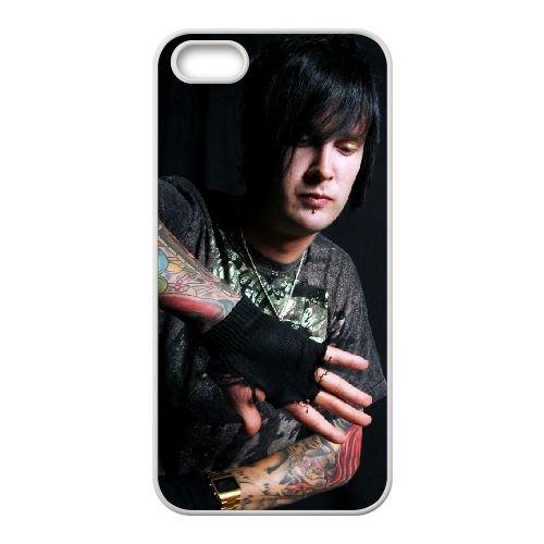 Avenged Sevenfold coque iPhone 5 5S Housse Blanc téléphone portable couverture de cas coque EBDOBCKCO12634
