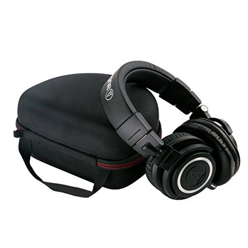LTGEM Storage Carrying Travel Case Bag for Audio-Technica ATH-M50x/M50/M70X/M40x/M30x/M20x/M50xMG Headphones Professional Studio Monitor Headphones