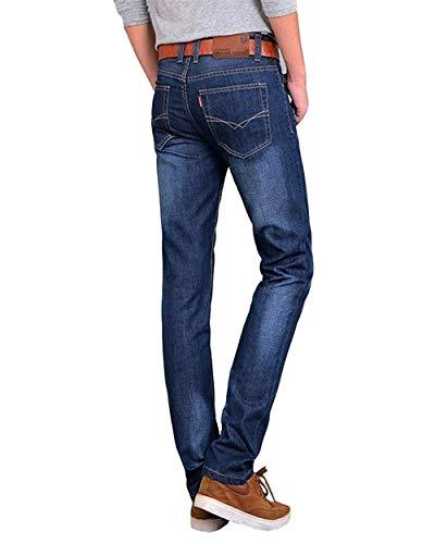 Pantaloni Alla Retrò Jeans Moda Uomo Di color Size Casual Gamba Slim Base A Da In Abbigliamento 32 Hellblau2 Denim Regular Dritta OO1w6arqdx
