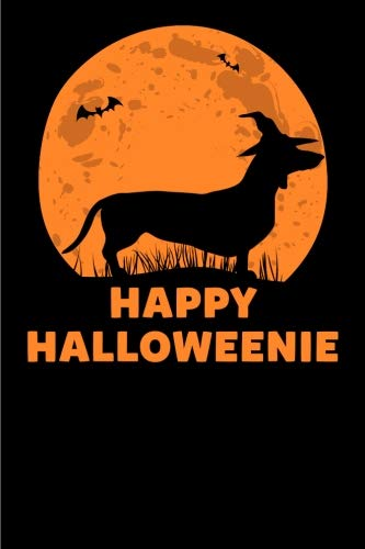 Happy Halloweenie: Happy Halloweenie Gift Notebook: 120-Page -